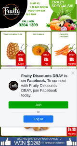 Fruity Discounts DBay – Win $100 Instore Spend
