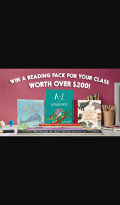 Hachette – Win a Reading Pack for Your Class Worth Over $200 (prize valued at $200)