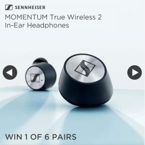 JB HiFi – Win a Sennheiser Momentum True Wireless Ii