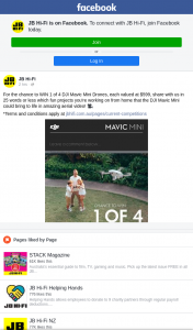 JB HiFi – Win 1 of 4 Dji Mavic Mini Drones (prize valued at $599)