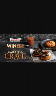 Krispy Kreme SA – Win 1 of 10 Dozen Caramel Crave Doughnuts (prize valued at $25)