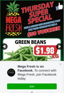 Mega Fresh Browns Plains – Win a $50 Store Voucher (prize valued at $50)