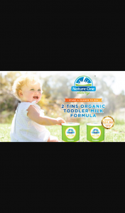 Mum Central – Win Nature One Dairy® Organic Toddler Milk Tins When You Sign Up With Us Today (prize valued at $25.99)