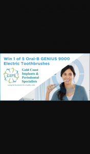 MyGC – Win 1 of 5 Genius 9000 Oral B Electric Toothbrushes (prize valued at $1,745)