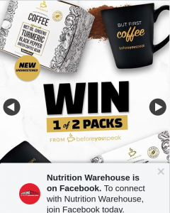 Nutrition Warehouse – Win 1 of 2 Packs⠀