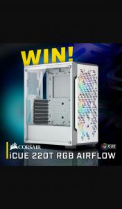 PC CaseGear – Win a Corsair Icue 220t Rgb Airflow Mid Tower Case