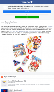 Robina Town Centre – Win Your Little Fan The Ultimate Nickelodeon Paw Patrol Prize Pack