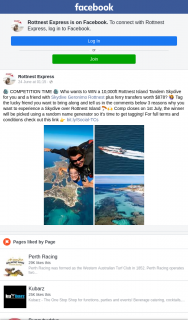 Rottnest Express – Win a 10000ft Rottnest Island Tandem Skydive for You and a Friend With Skydive Geronimo Rottnest Plus Ferry Transfers Worth $878? (prize valued at $369)