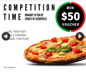 Siena's of Leederville – Win $50 Gift Voucher