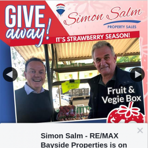 Simon Salm Re-Max Bayside Properties – Win a $40 Fruit & Vege Box Voucher From Randall's Fruit Farm