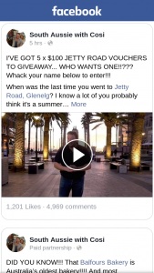 South Aussie With Cosi – Win One of Five $100 Jetty Road Vouchers
