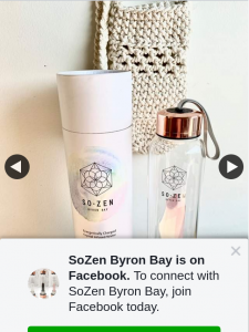 SoZen Byron Bay – Win Crystal Infused Water Bottle (prize valued at $99)