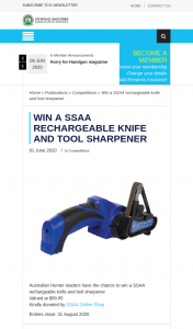 SSAA – Win a Ssaa Rechargeable Knife and Tool Sharpener (prize valued at $89.95)
