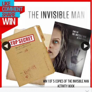 Stack magazine – Win One of Five Copies of The Invisible Man Activity Book