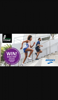 Stadium Stomp – Win a $500 RRP Brooks Run Pack (prize valued at $270)