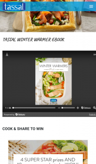 Tassal – Win this Winter By Cooking & Sharing Your Favourite Recipe From Our New Tassal Winter Warmers Ebook (prize valued at $3,014)