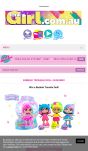 Total Girl – Win a Bubble Trouble Doll (prize valued at $510)