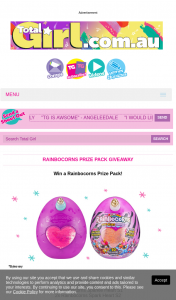 Total Girl – Win a Rainbocorns Prize Pack (prize valued at $890)