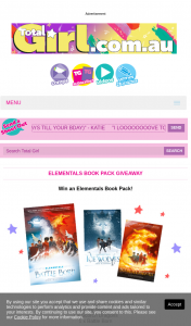 Total Girl – Win 1/10 Elementals Book Packs 5pm (prize valued at $539)