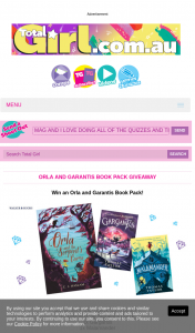 Total Girl – Win 1/10 Orla and Garantis Book Packs 5pm (prize valued at $510)