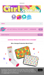 Total Girl – Win The Georgia Production Merch Pack (prize valued at $550)