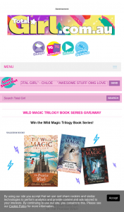 Total Girl – Win The Wild Magic Trilogy Book Series (prize valued at $510)