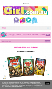 Total Girl – Win 1/11 Wolf Girl Book Packs 5pm (prize valued at $528)