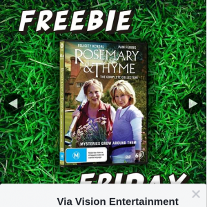 Via Vision Entertainment – Win a Copy of Rosemary & Thyme The Complete Collection DVD