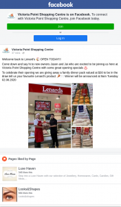 Victoria Point Shopping Centre – Win a Lenard's Family Dinner Pack (prize valued at $30)
