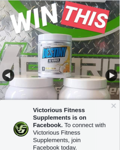 Victorious Fitness Supplements – Over $200 of Musclenation (prize valued at $200)