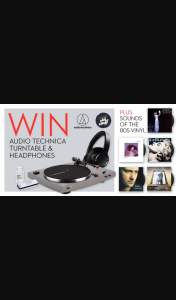 Warner Music – I Like Your Old Stuff – Win an Audio-Technica Turntable & Wireless HeaDouble Passhones & 80s Vinyl Bundle (prize valued at $993)