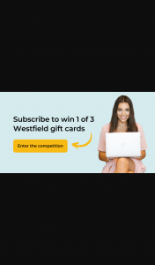 Wellness@Work – Win 1 of 3 Westfield Gift Cards By Subscribing