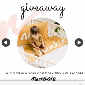 Win a Personalised Pillowcase and Matching Cot Blanket of Your Choice