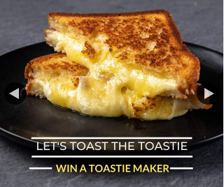 Win National Toastie Day Is a Thing and It's on this Sunday