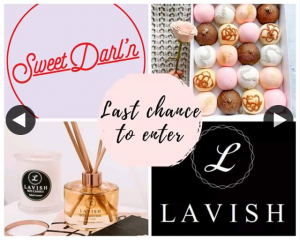 Win Pack and Store Credit Lavish Aroma's (prize valued at $60)
