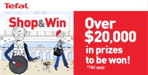 Tefal – July in France – Win a major prize of $3,000 in Australia Post gift cards OR 1 of 299 minor prizes