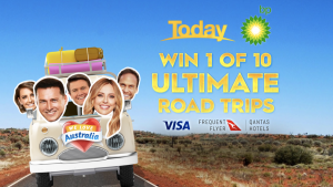 Today – Win 1 of 10 prize packs valued at $7,000 each including Visa gift card, BP gift card and Qantas Hotel voucher