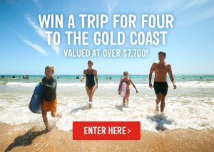 Webjet – Win a 7-night holiday in Gold Coast for 4 people (flights included)
