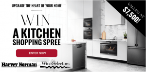 Wine Selectors – Win a Harvey Norman Kitchen Appliance shopping spree valued at $7,500
