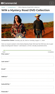 ABC – Win a Mystery Road DVD Collection (prize valued at $235)