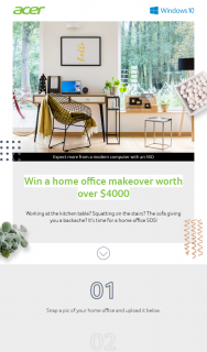 Acer – Win a Home Office Makeover Worth Over $4000.