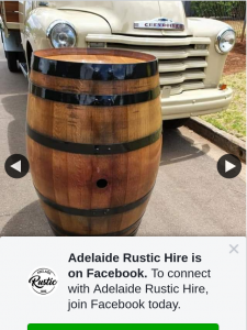 Adelaide Rustic Hire – Win a Natural Varnished Black Ring 300 Litre Wine Barrel Simply