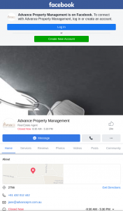 "Advance Property Management – Simply ""like"" Our"