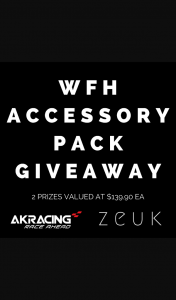AKRacing – Win The Ultimate Wfh Accessory Pack (prize valued at $139.9)