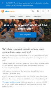Alinta Energy – Win More Savings on Your Electricity (prize valued at $1)