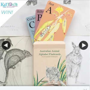 Australian Animal Alphabet Flashcards Giveaway – Win Kidtown Melbourne (prize valued at $29.95)