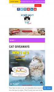 Australian Cat Lover – Win 1 of 3 Pet-Mat™ Heated Animal Pads