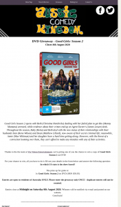 Australian Comedy Kingdom – Win a Copy of Good Girls Season 2 on DVD