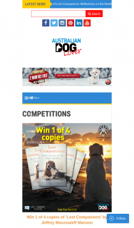 Australian Dog Lover – Win 1 of 4 Copies of 'lost Companions' Book (prize valued at $120)