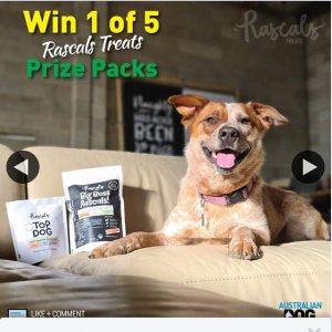 Australian Dog Lover – Win One of Five Rascals Treats Prize Packs (prize valued at $154)